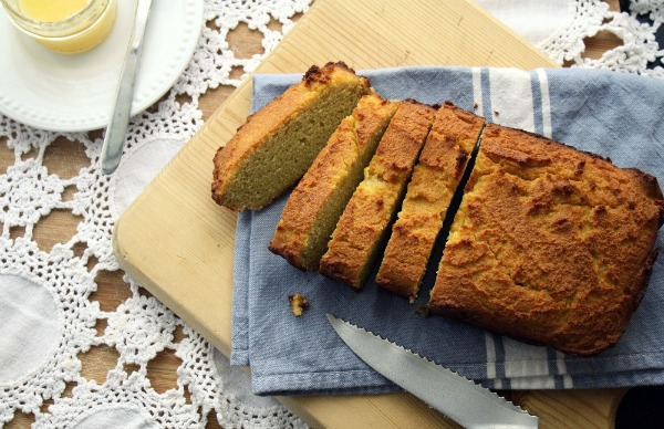 Corn Bread on Blue Towel