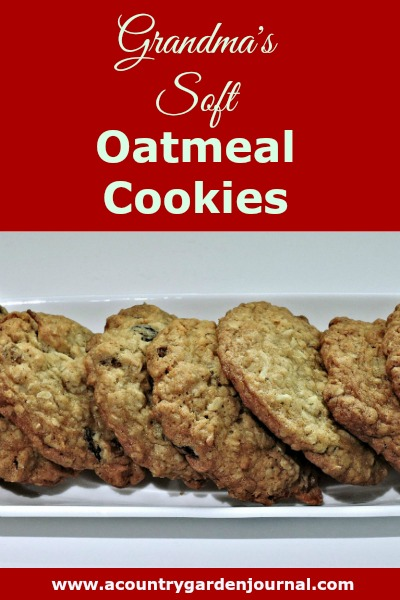 GRANDMA'S SOFT OATMEAL COOKIES, A COUNTRY GARDEN JOURNAL