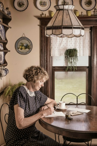 Vintage Lady Writing