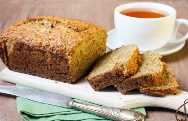 Zucchini Bread and Tea