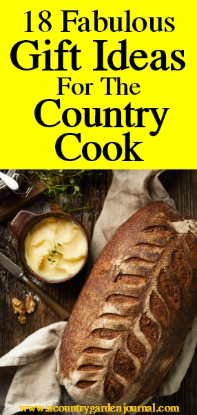 COOKING GIFT IDEAS, A COUNTRY GARDEN JOURNAL