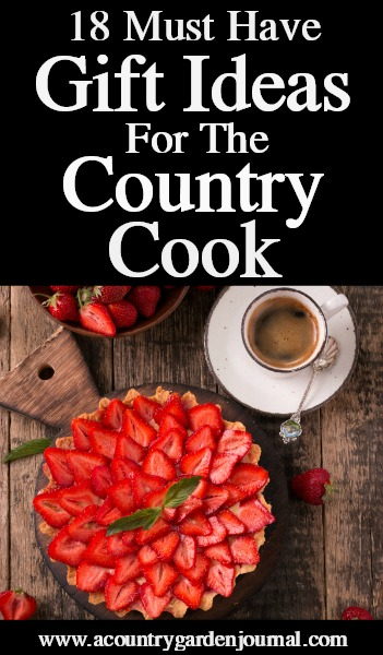 18 COOKING GIFTS, A COUNTRY GARDEN JOURNAL