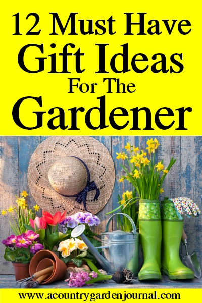 12 GARDENING GIFTS, A COUNTRY GARDEN JOURNAL